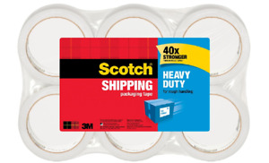 4 x6 Rolls pkg Scotch Heavy duty Shipping Packing Tape 1 7 8 X 43 7 10 Yd