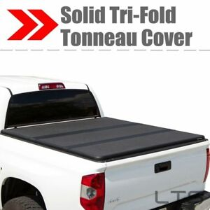 Lock Tri fold Hard Solid Tonneau Cover For 2004 2006 Chevy Silverado 5 8 Ft Bed