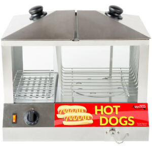 Electric Commercial Hot Dog Bun Steamer Machine Tabletop Concessions Parties New