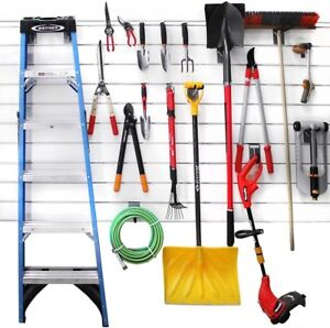 20 pk Home Garage Wall Storage Organizer Pegboard Accessories Hook Kit Silver