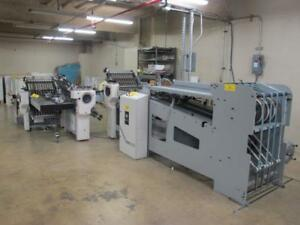 Baum 20 4 4 4 Continuous Feed Folder With Hhs c20 Cold Glue