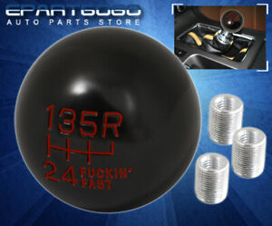 For Audi Mt Round Spherical Twist On Ball Type Race Short Throw Shift Knob Red