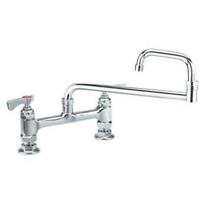 Krowne 15 818l 8 In Royal Series Deck Mount Faucet W 18 In Jointed Spout