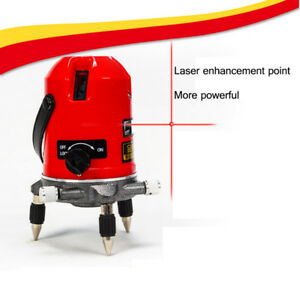 Automatic 5 Line 6 Points Self Leveling 360 Rotating Laser Level Meter Measure