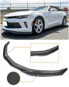 For 16 18 Camaro Rs Eos T6 Style Carbon Fiber Front Bumper Lower Lip Splitter
