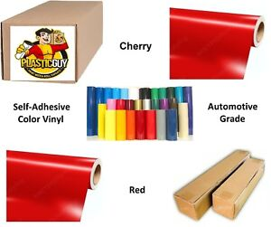 24 X 55yd 6yr Outdoor Sign Vinyl Film Craft Hobby Roll Sheet Cherry Red