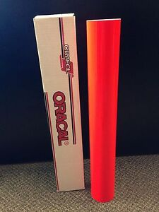 Oracal 6510 1 Roll 24 x10ft Fluorescent Red 039 Sign Vinyl