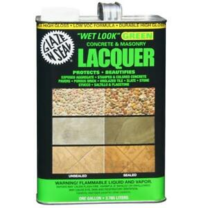 Lacquer Sealer Glaze N Seal 1 Gallon Clear Wet Look Green Concrete And Masonry