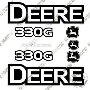 John Deere 330 G Skid Steer Loader Equipment Decals