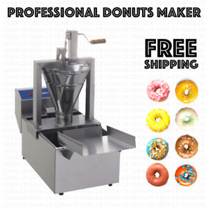 Professional Small Business Compact Donut Fryer Maker Machine 110 Pc h Tank
