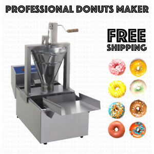 Professional Small Business Compact Donut Fryer Maker Machine 350 Pc h Tank