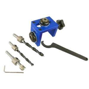 Woodworking Dowel Hole Drilling Guide Jig Drill Bit Drilling Locator Tool