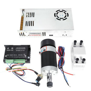 Cnc Er11 400w Brushless Spindle Motor driver mount power For Engraving Machine