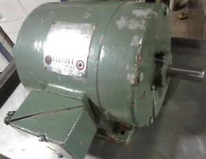 Elliot 3 Phase Induction Motor 2 Hp 1710 Rpm Sc 184 101 Our 3