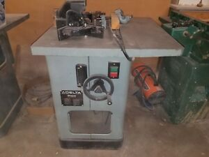Delta 43 375 3hp 230 V Wood Shaper Knives Not Included Missing Front Panel