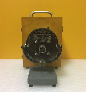 General Radio gr 1602 b 40 To 1500 Mhz Uhf Admittance Bridge Wood Case