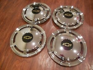 Set Of 1985 1996 Fits Chevrolet Caprice Police Car 15 Hubcaps Wheelcovers