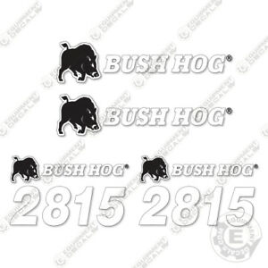 Bush Hog 2815 Flex Wing Rotary Cutter Replacement Decals Durable 7 Year Decals