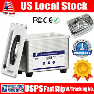 0 8l Digital Ultrasonic Cleaner Cleaning Bath Jewelry Eyeglasses Dental Parts