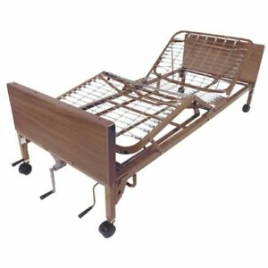 Drive Medical Multi Height Manual Hospital Bed With Half Rails Innerspring