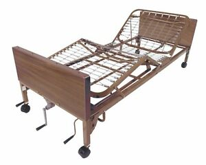 Drive Medical Manual Hospital Bed Brown 36