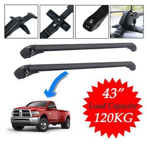 Car Roof Rack Luggage Carrier Cross Bar 120kg Load For Dodge Ram 1500 3500