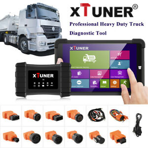 Heavy Duty Truck Diagnostic Tool For Airbag Dpf Abs 8 Win10 Tablet Xtuner T1