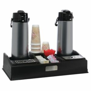 Hubert Airpot Coffee Dispenser Stand For 2 Airpots Black Plastic