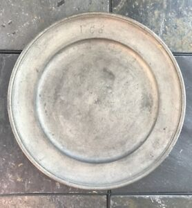 Hallmarked Circa 1820 S Pewter Charger