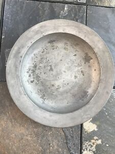 Circa 18th Century Deep Dish Charger Or Bowl Pewter