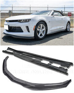 Eos T6 Style Carbon Fiber Front Splitter W Side Skirts For 16 Up Camaro Rs Lt