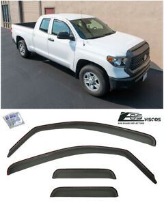 Eos Visor In Channel Side Window Deflectors For 07 Up Toyota Tundra Double Cab