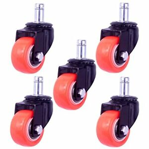 2 Replacement Office Chair Caster Wheels Heavy Duty Solid Rubber Safe For