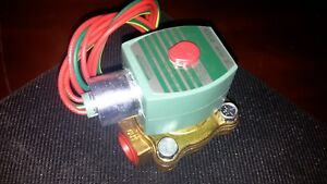 New Asco Red hat 8210g002 2 way Solenoid Valve 1 2 free Shipping