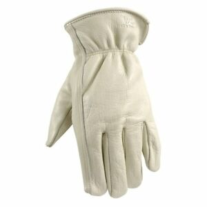 Wells Lemont Leather Work Gloves With Reinforced Suede Palm Patch Grain Triple