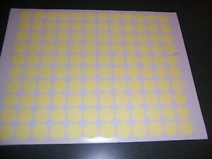 6000 Yellow Pastel Blank Rummage Garage Yard Sale Stickers Labels Price Tags