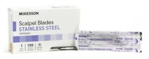 Mckesson Brand Surgical Blade Stainless Steel Size 15 Disposable Box Of 100