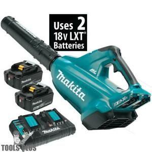 Makita Xbu02pt 18v X2 36v Lxt Li ion Brushless Cordless Blower Kit 5 0ah New