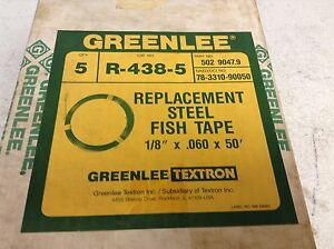 Greenlee R 438 5 Replacement Steel Fish Tape 50 R438 5 R4385 Box Of 5 New