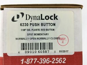 6230 Push Button 1 5 8 Diameter Plastic Red Button Dpst Momentary Dynalock Palm