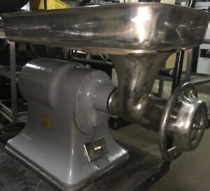 Hobart Meat Grinder Table Top Unit Model 4332 W 32 Attachments