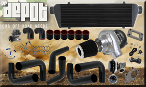 T04 63ar 350 Hp 10pc Turbo Charger Manifold Intercooler Kit For Mustang V6