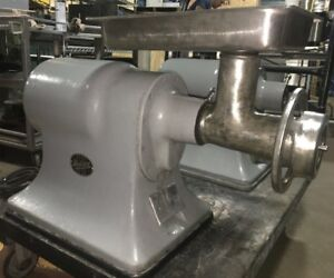 Hobart Meat Grinder Table Top Unit Model 4332 W 22 Attachments Single Phase
