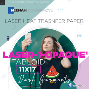 Laser 1 Opaque Heat Press Transfer Paper 11x17 25 Sheets Free Pressing Sheet 1