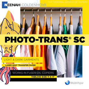 Photo Trans Sc Laser Heat Transfer Paper 11x17 50 Xerox Docucolor 12 Fuser Oil