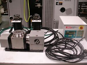 Haas Tr 110 Trunnion Table With Dua Axis Control Box 4th Axis Rotary Table