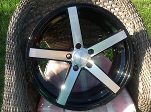 18x8 Boss Series 3538 Diamond Cut Black silver Wheels Rims Set 5x4 5 Set Of 4