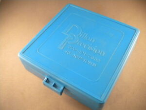 Dillon Precision 100 round Ammo Bullet holder Protective Case Blue .45 ACP 10mm