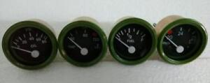 24v Electrical Gauges 52mm Oil Pressure Temp Fuel Volt For Truck Jeep