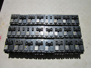 Lot Of 24 Square D Hom Type 2 Pole Circuit Breakers 15 To 70 Amps 120 240vac